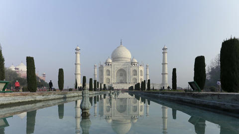 Time Lapse Of Taj Mahal At Agra A UNESCO World Heritage Site, A Monument Of Love stock footage