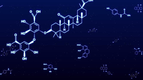 Chemica Formula Blue Glow stock footage