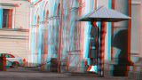 Stereoscopic 3D Helsinki 5 - honour guard in downtown Footage
