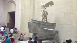 The Winged Victory Of Samothrace stock footage