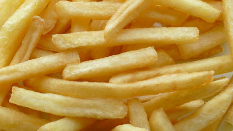 4k, French Fries Background, Closeup Shot stock footage