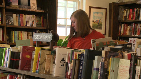 The Hickory Stick Bookshop Interior (1 Of 5) stock footage