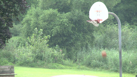 Shooting Basketball At A Park. (1 Of 2) stock footage