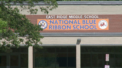 East Ridge Middle School (3 Of 3) stock footage