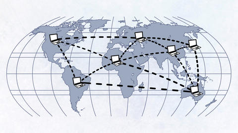 Map Of International Cooperation stock footage