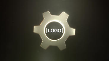 Gear Logo Animation stock footage