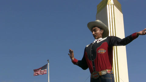 Big Tex Talking At State Fair Of Texas Footage