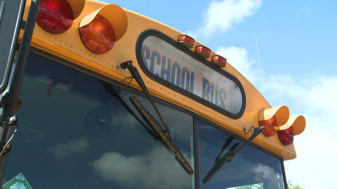 Yellow School Bus (1 Of 2) stock footage