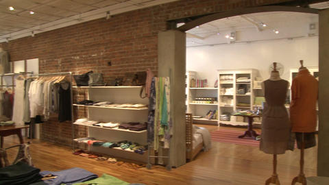 High End Fashion Boutique (3 Of 4) stock footage
