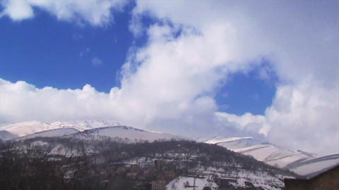 Clouds And Mountains TimeLapse 1 stock footage