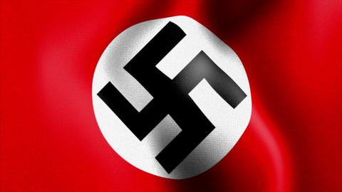 10675 Waving Swastika Nazi Flag stock footage
