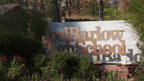 High School Sign For Joel Barlow (1 Of 2) stock footage