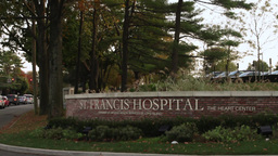 St. Francis Hospital Sign stock footage