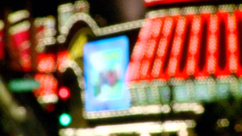 Neon Lights On The Vegas Strip (1 Of 3) stock footage