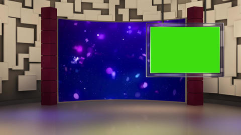 Entertainment TV Studio Set 26 Virtual Green Screen Background Loop stock footage
