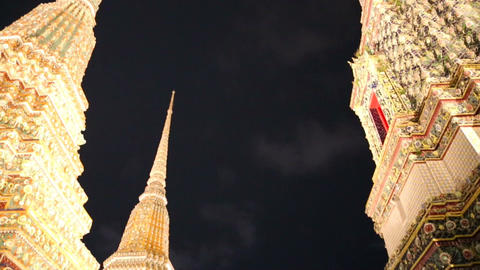 Wat pho temples at night Footage