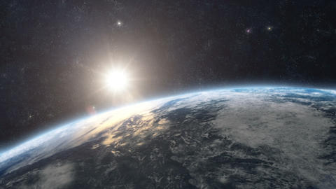 Planet Earth Sunrise 05 Animation