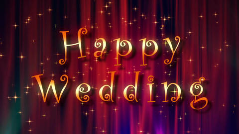 Happy wedding image Animation