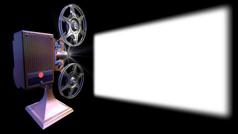Projector film shows a film Footage