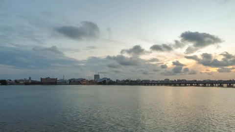 Sunset Over Cotonou stock footage