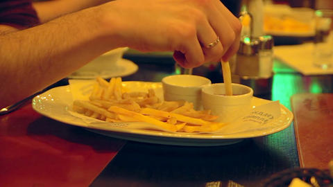 1080p French Fries stock footage