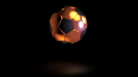 3D gold football bounce 06 Animation