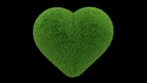 heart grass loop Animation