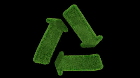 recycle grass loop Animation