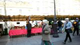 Visiting A French Market stock footage