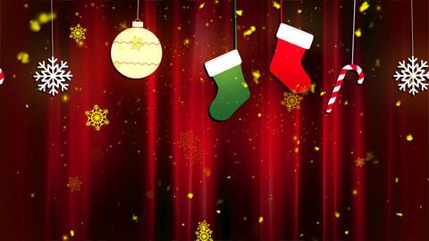 Christmas Cloth Ornaments 2 stock footage
