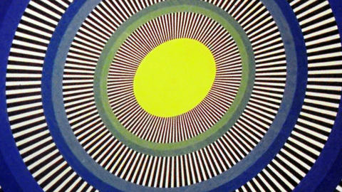 Yellow Egg Sun Oval Optical Illusion Animation Background Footage