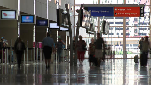 Aiport People Time Lapse stock footage