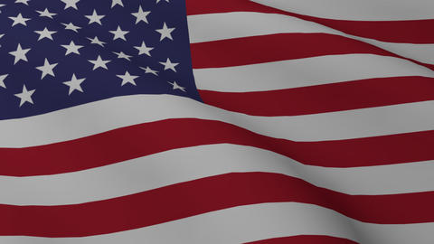 USA Flag Png stock footage