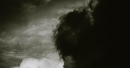 Dark Clouds In Black And White. 4K stock footage