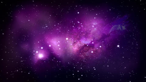 Stars Space Flyby, Nebula - 30fps stock footage