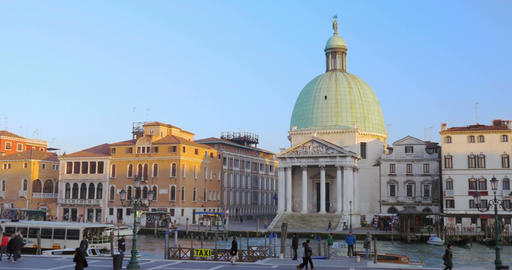 The Grand Canal And Old Architecture In Venice, Italy stock footage