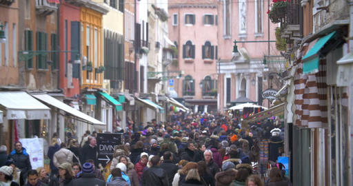 Daily Life Of Venice, Italy stock footage