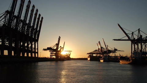 Port Terminal stock footage