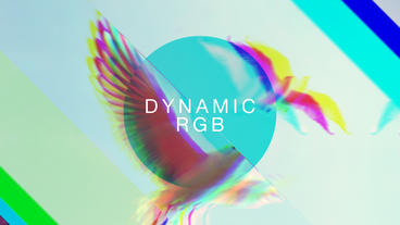 Dynamic RGB Slideshow stock footage