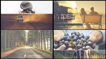 Modern Story Slideshow ( After Effects CS5.5 Or Above) stock footage