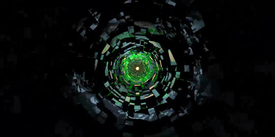 Tunnel_cube01 stock footage