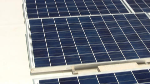 Tilt Of Solar Panels On Rooftop Providing Clean Energy To Cape Cod Electronics M stock footage