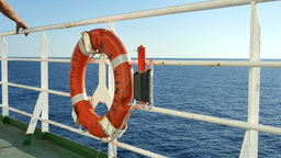 Float On The Deck Of A Cruise Boat 4k stock footage
