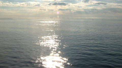 Vineyard Sound Looking East In Early Morning From Deck Of Ferry Boat stock footage