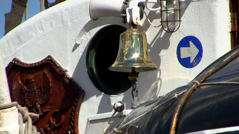 Ships Brass Bell stock footage