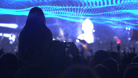 Audience Clap Hands At A Concert stock footage