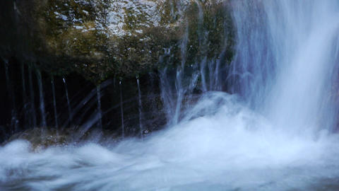 Small Waterfall Detail stock footage