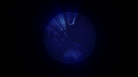 Planet Earth Rotation At Night With Space Background stock footage