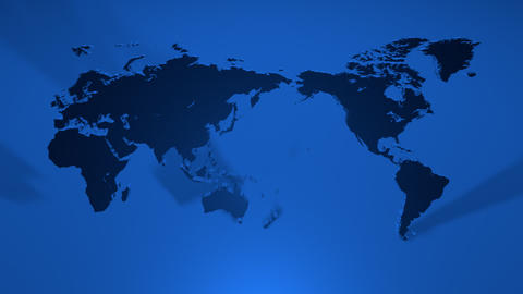 A World Map, Blue Tint stock footage