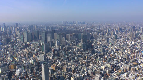 Central Tokyo Aerial Shoot In Japan stock footage